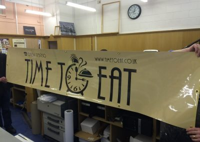 Business banner made for a new cafe