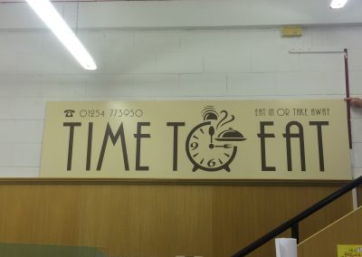 Landscape sign made for a new cafe to go above their window