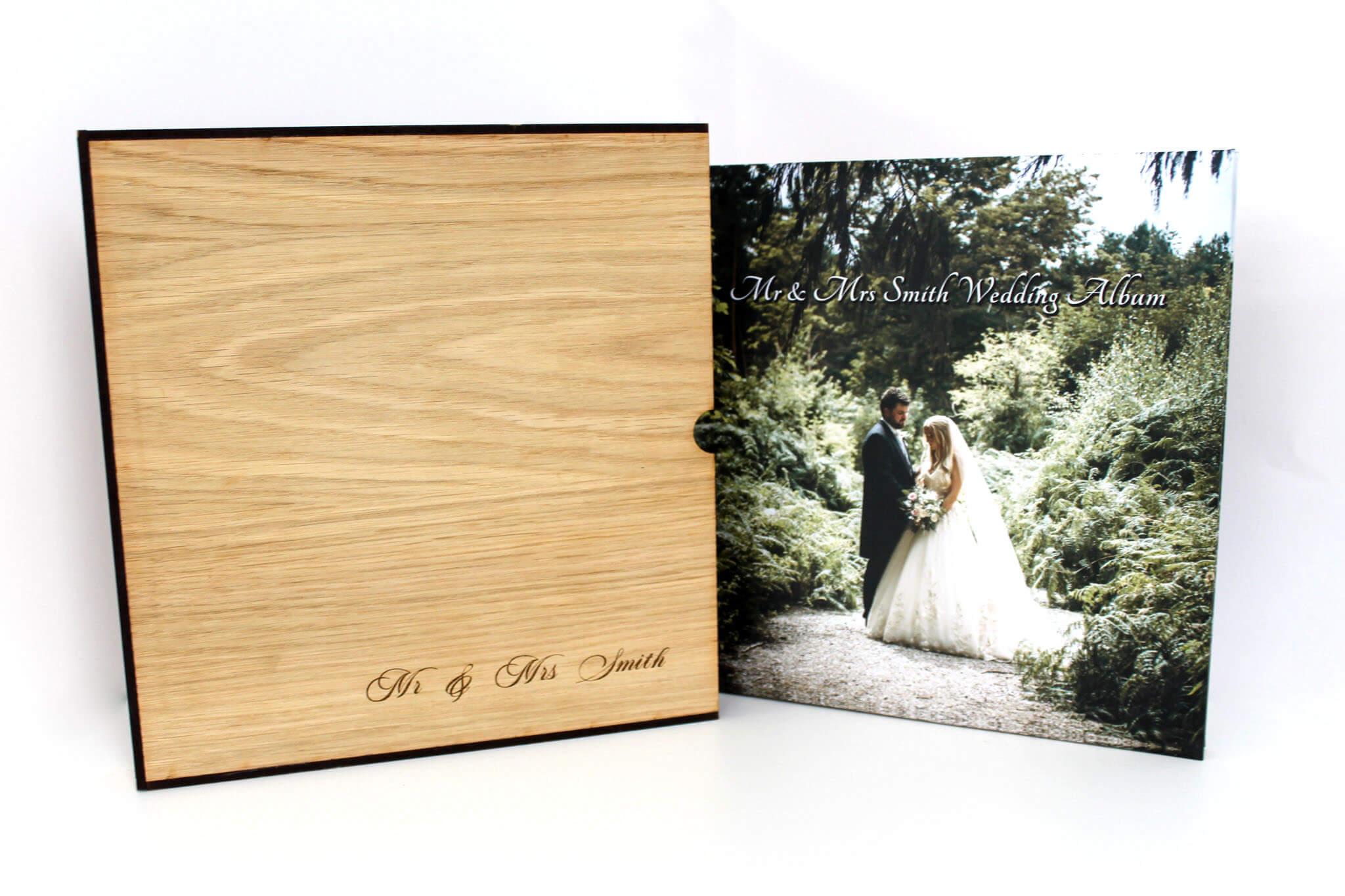 Bespoke wedding album presentation box Manchester