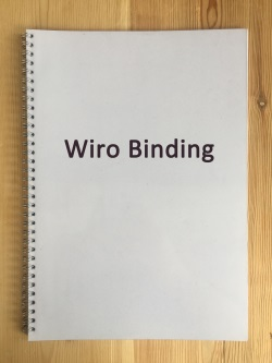 Wiro Binding Thesis and Dissertation Manchester